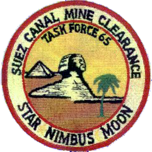 1974 Suez Canal Clearance Operation - Image: US Task Force 65 Suez Mine Clearance patch 1974