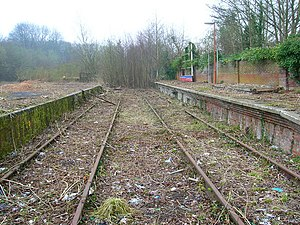 Uckfield railway station - Original Uckfield station in 2007