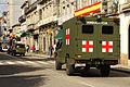 Un Nissan Patrol y un Uro VAMTAC ambulancia de la BRILAT (15262741577).jpg