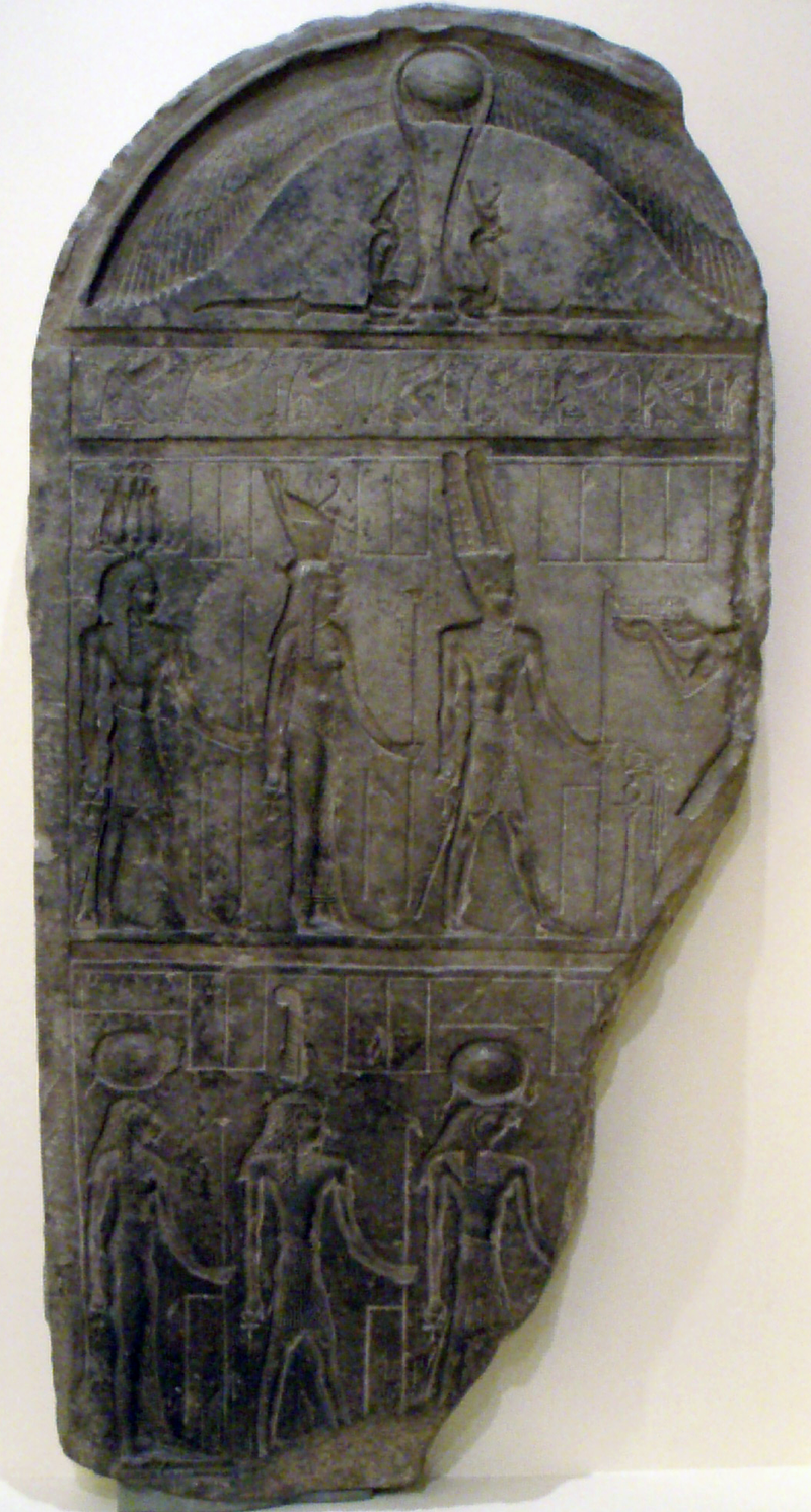 Stelas 800px-UnfinishedTriadStele-Ptolemaic-ROM