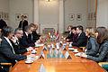Ungārijas parlamenta priekšsēdētāja oficiālā vizīte Latvijā (8122315592).jpg