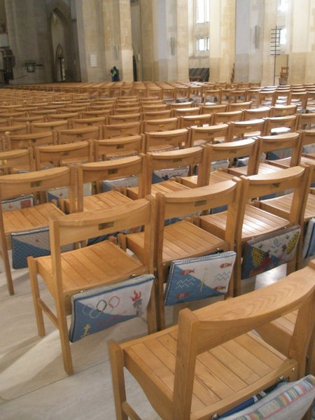 File:Unique kneelers at Guildford Cathedral - geograph.org.uk - 1152105.jpg