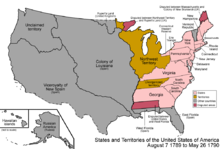 Northwest Territory Wikipedia - Blank map of us territorial acquisitions