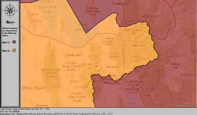 Utahs Congressional Districts Wikipedia - Us map salt lake city