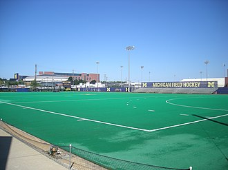 Michigan Wolverines field hockey - Phyllis Ocker Field as it appeared in August 2013