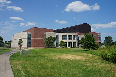 Sam Noble Oklahoma Museum of Natural History exterior University of Oklahoma July 2019 47 (Sam Noble Oklahoma Museum of Natural History).jpg