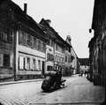 Untere Sandgasse in Bamberg mit Blick auf die Elisabethenkirche - TEK - TEKA0118337.tiff