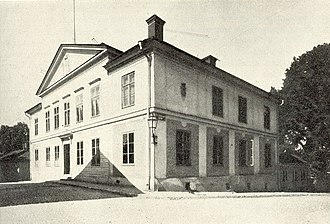 Uplands nation - Uplands nation, exterior of the building. Photo from before 1915.