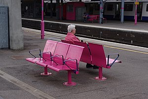 Seat - Seats at a railway station