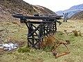 Upper terminus of aerial cableway, Cwm Bychan mine - geograph.org.uk - 1384146.jpg