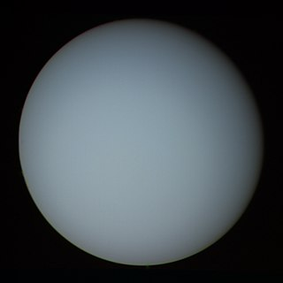 Uranus Seventh planet from the Sun in the Solar System