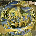 Urbino, francesco xanto avelli, piatto con ritirata di serse dalla grecia, 1537.JPG