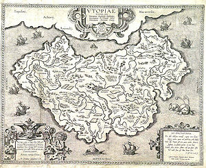 Utopia (book) - Map by Ortelius, ca. 1595.