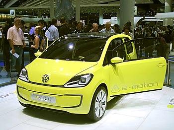 English: Volkswagen e-up! concept car as shown...
