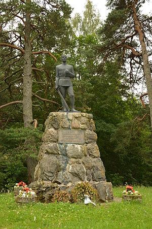 Kambja - Image: Vabadussõja mälestussammas Kambjas