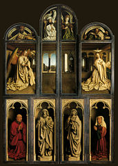 Back panel Ghent Altarpiece with interior view