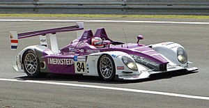 2008 24 Hours of Le Mans - The No. 34 Porsche RS Spyder Evo of Van Merksteijn Motorsport took pole and first place in LMP2
