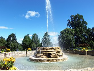 Vander Veer Park Historic District - Vander Veer Park fountain is a Civil Works Administration project.