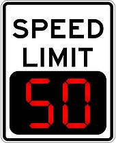 170px Variable speed limit digital speed limit sign