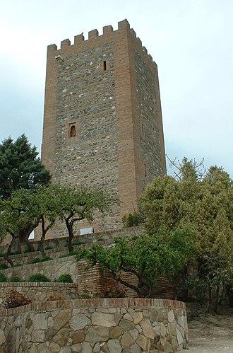 Vélez-Málaga - Tower of the ruined castle at Vélez-Málaga