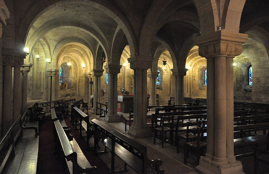 Verdun (France): Notre-Dame cathedral, the crypt