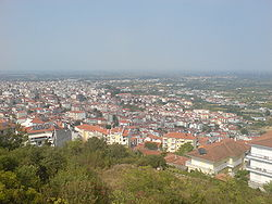 Downtown view of Veria from Villa Vikella Hill in September 2007.