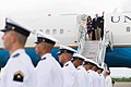 Vice President Mike Pence and Second Lady Karen Pence arrive in Colombia, August 13, 2017.jpg