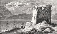 Victor Guérin. Ancienne tour ruinée de Kaïpha. - Vue de Saint-Jean d'Acre dans le lointain. 1882-1884.jpg