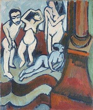 Ernst Ludwig Kirchner - Vier Holzplastiken, 1912, Dallas Museum of Art