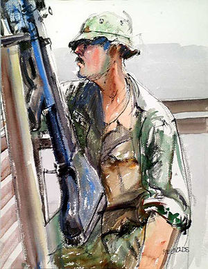 Combat engineer - Combat Engineer depicted in the  Vietnam Combat Artists Program