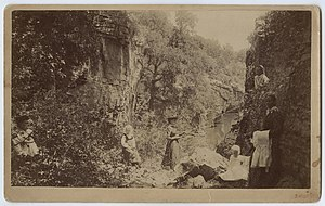 "Palo Pinto, Texas - Picnic in ""Lovers Retreat"", 1892. Photo courtesy SMU."