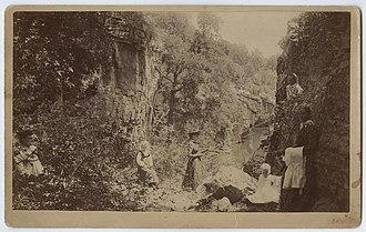 "Palo Pinto, Texas - Picnic in ""Lovers Retreat"", 1892, photo courtesy Southern Methodist University"
