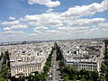 View from Arc de Triomphe 2 2012-07-02.jpg