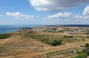 View from Yenikalsky Lighthouse on eastern outskirts of Kerch.jpg