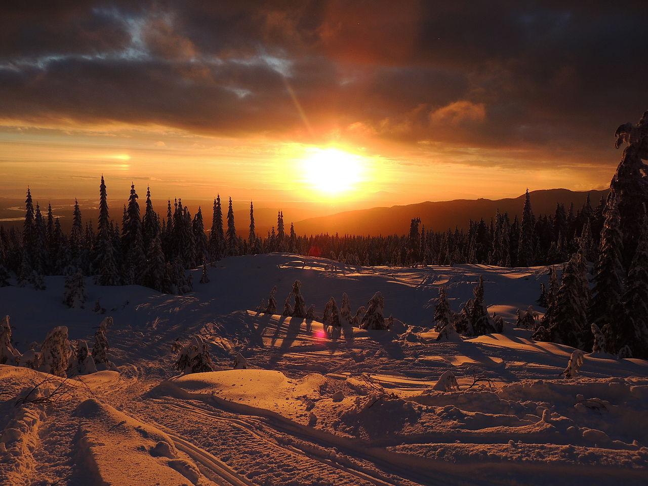 Burke Mountain Vermont Sunset