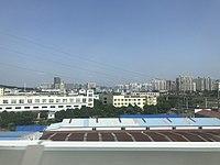View of Zhenjiang City from train near Zhenjiang South Station.jpg