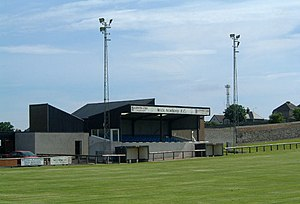 Harmsworth Park - The main stand in 2005