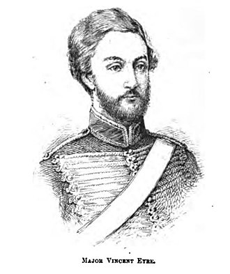 Siege of Arrah - Sketch of Major Vincent Eyre from the Illustrated Naval and Military Magazine, 1 March 1888