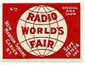 Vintage Radio Show Stamp - 4th Radio World's Fair, New Madison Square Garden, NY, Circa 1920s (11910175454).jpg