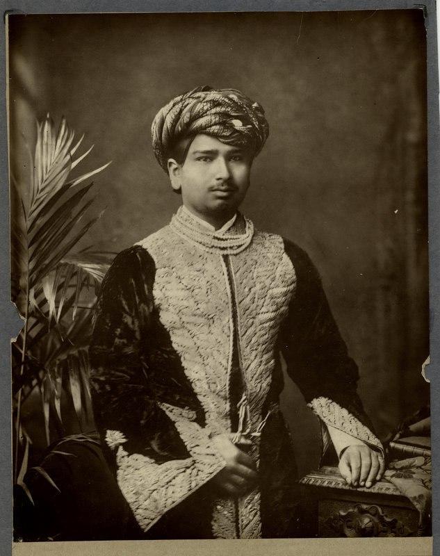 Vintage studio portrait of the Thakore of Wadhwan