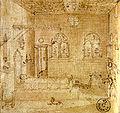 Vittore carpaccio, sogno di sant'orsola, disegno agli uffizi.jpg