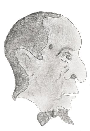 English: A pencil sketch of the Russian pianis...