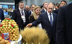 Vladimir Putin and Matteo Renczi at the opening day of Russia at Expo-2015 09.jpg