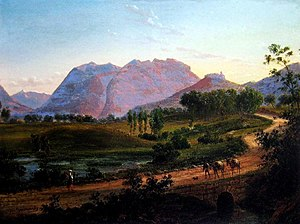 Don Checco - Eugene von Guerard's depiction of the road to Naples through Campania c. 1830