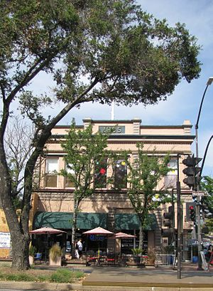Morgan Hill, California - Downtown's historic Votaw Building was built in 1905.