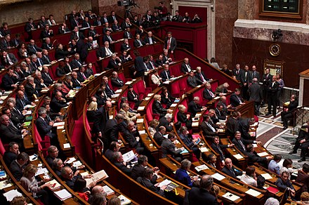The National Assembly is the lower house of the French Parliament. Vote solennel loi mariage 23042013 12.jpg