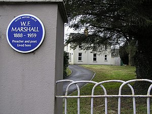 William Forbes Marshall - Blue plaque