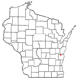 Location of Rhine, Wisconsin