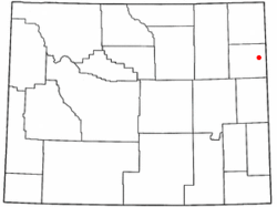 Location of Newcastle, Wyoming