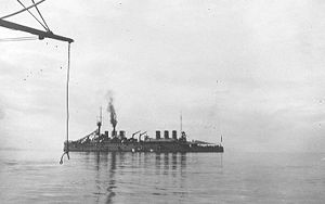 Edgar Quinet-class cruiser - Waldeck-Rousseau off Constantinople in 1922